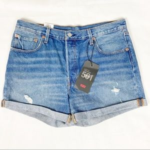 NWT Levi's 501 Mid Rise Jean shorts